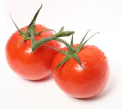 Red tomato isolated on white background Stock Photos