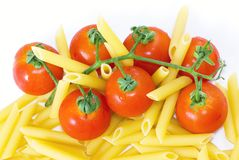 Red Tomato and Pennette Rigate Stock Images