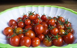 Red tomato in plate Stock Photo