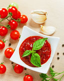 Red tomato sauce Royalty Free Stock Images