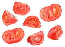 Red tomato slice Royalty Free Stock Photo