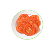 Red tomato slices Royalty Free Stock Photo