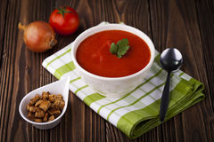 Red tomato soup Stock Images