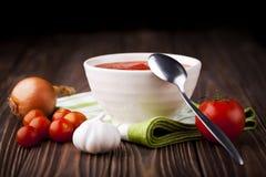Red tomato soup Stock Photos