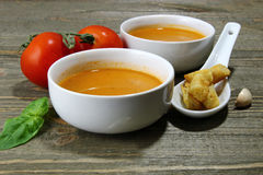 Red Tomato soup. Stock Photography