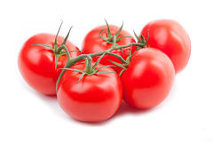 Red tomato, tomate rouge. Red tomato on a white background, tomate rouge sur dond blanc Stock Image
