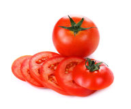 Red tomato vegetable isolated on white background Stock Photography