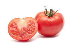 Red Tomato Vegetable With Cut Royalty Free Stock Photography