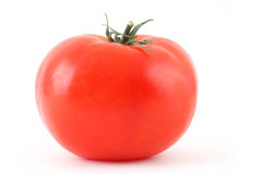 Red Tomato on White Stock Photos