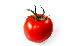 Red tomato on white background. Royalty Free Stock Image
