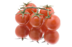 Red tomato on white close up Royalty Free Stock Photos