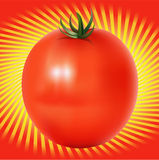 Red Tomatoe with lines background Stock Photo