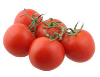Red tomatoes. Isolated on white background with clipping path Royalty Free Stock Photography