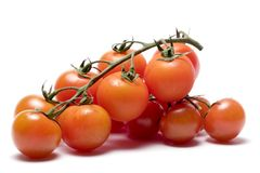 Red tomatoes. Isolated on white background Stock Images
