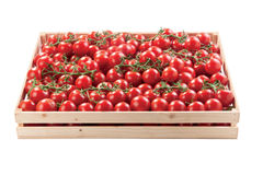Red tomatoes in a box raw vegetables Royalty Free Stock Photography