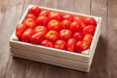 Red tomatoes box Royalty Free Stock Photo