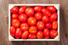 Red tomatoes box Stock Photos