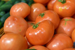 Red tomatoes on display Stock Photography