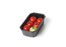 Red tomatoes in food container Royalty Free Stock Images