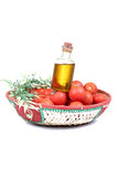 Red tomatoes with honey dressing Royalty Free Stock Photo