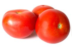 Red tomatoes isolated Royalty Free Stock Images