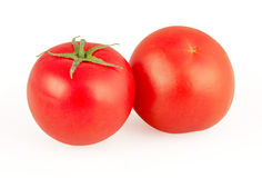 Red tomatoes isolated on white Royalty Free Stock Photography