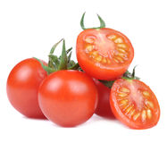 Red Tomatoes Isolated on White Background Royalty Free Stock Image