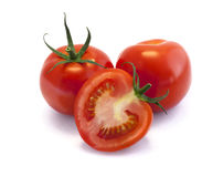 Red tomatoes isolated on white background Royalty Free Stock Photo