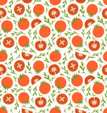 Red tomatoes pattern. Red tomatoes seamless pattern background Stock Photos