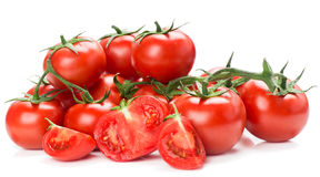 Red tomatoes vegetable with cut Royalty Free Stock Image