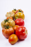 Red tomatoes - white background. Stock Photos