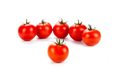 Red tomatoes on a white background Royalty Free Stock Photos