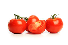 Red Tomatos. Isolated on a white background Stock Photo
