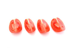 Red tomatos. Isolated on white background stock image