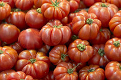 Red tomatos on the counter store Royalty Free Stock Photos