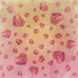 Red Tone Heart Water color wallpaper. Red Tone Heart on water color texture wallpaper Stock Photos