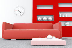Red tones interior Stock Photography