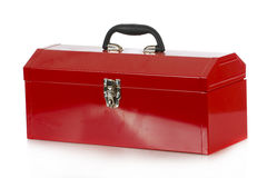 Red tool box. On white background Royalty Free Stock Photo