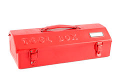 Red tool box royalty free stock image