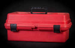 Red tool box Royalty Free Stock Photos