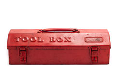 Red tool box. On white background stock photography