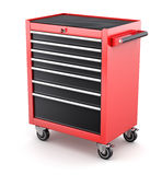 Red tool cabinets on white background Royalty Free Stock Images