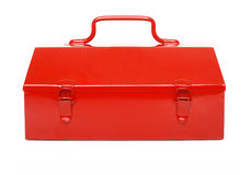 Red toolbox isolated Royalty Free Stock Image