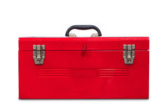 Red toolbox royalty free stock photo