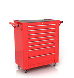 Red Toolbox on wheels Stock Photos