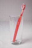 Red Toothbrush Stock Photography