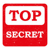 Red Top Secret Stamp or Sticker Royalty Free Stock Photos