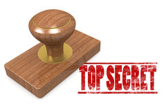 Red top secret wooded seal stamp Stock Images