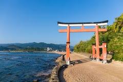 Red Torii in Aoshima Shrine Royalty Free Stock Photo