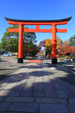 Red Torii in fujimi-inari in japan Stock Photo